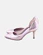 Zapatos salón glitter con aberturas Zara