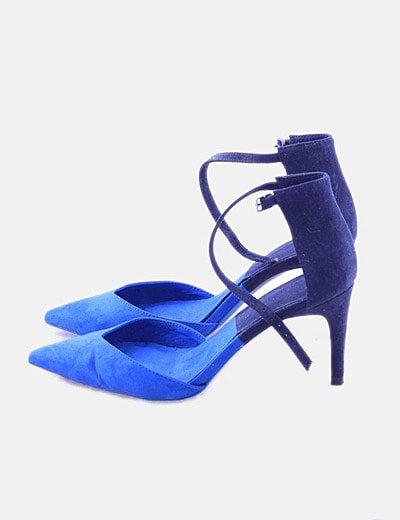 Sandalias colorblock azul