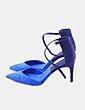 Sandalias colorblock azul Zara