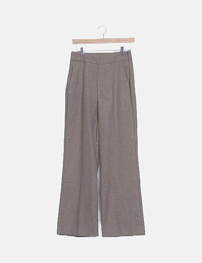 Pantalón wide leg marrón
