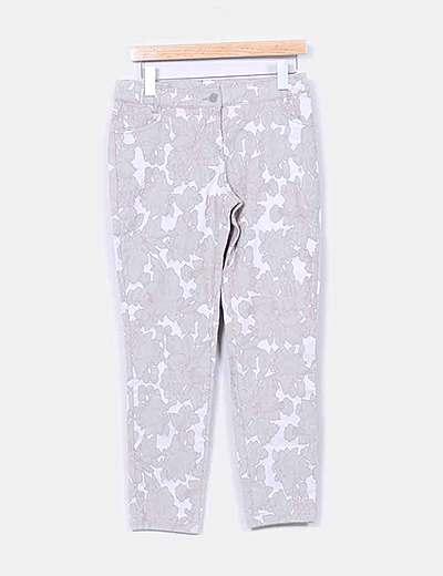 Pantalón beige texturizado