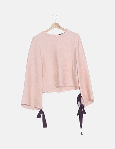 Conjunto rosa top y falda