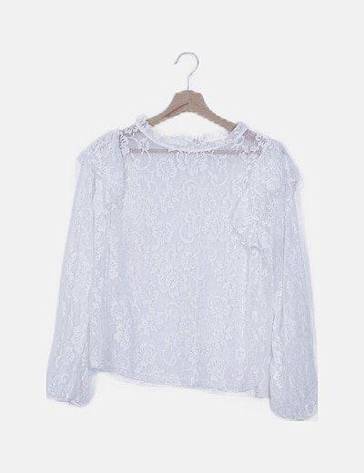 Blusa vintage encaje blanco