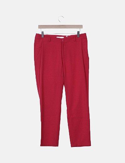 Pantalón fluido rojo