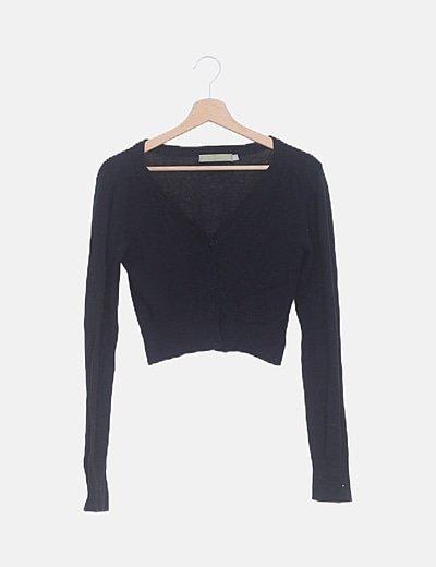 Torera tricot negra