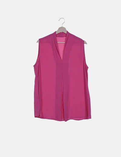 Blusa fluida rosa