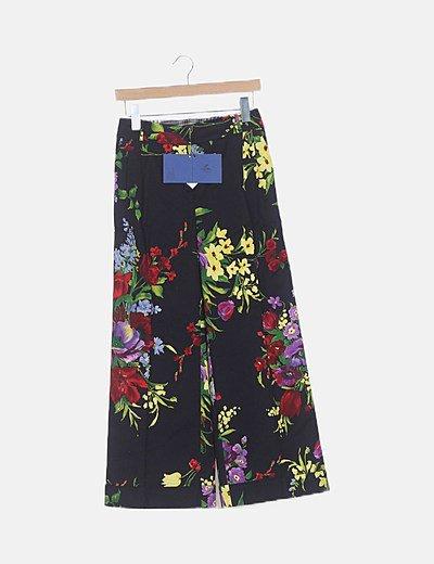 Culotte negro floral