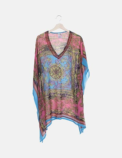 Blusón seda estampado