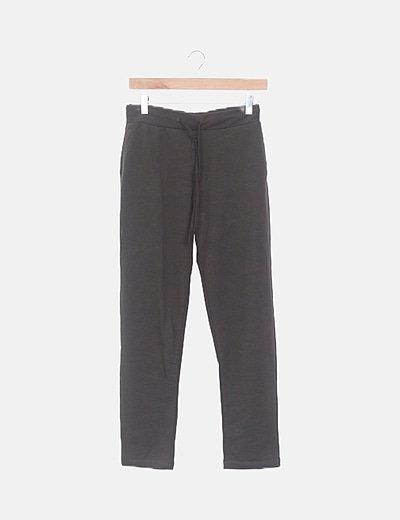 Pantalón baggy verde oscuro