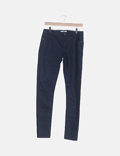 Pantalón encerado azul marino