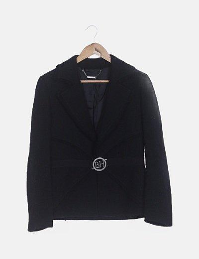 Conjunto falda y chaqueta tweed negra