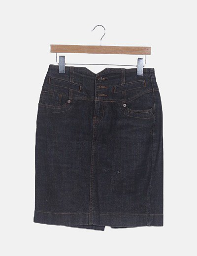 Trucco midi skirt