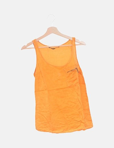 Camiseta satinada naranja