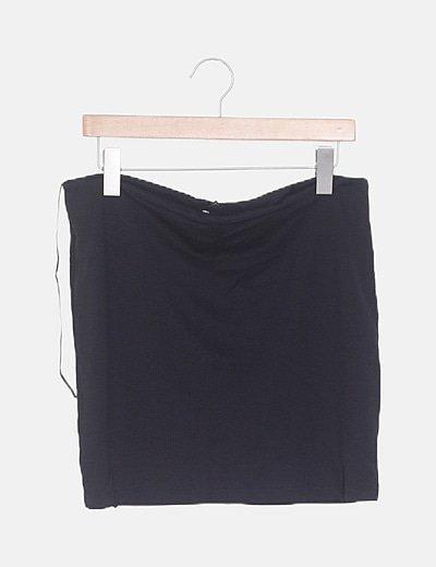 Mini falda tubo negra