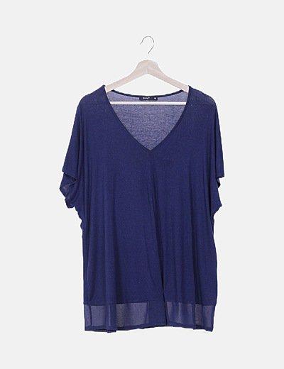 Camiseta fluida azul marino