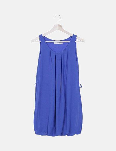 Vestido gasa azul eléctrico