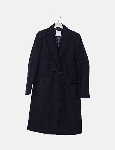 Abrigo largo negro paño