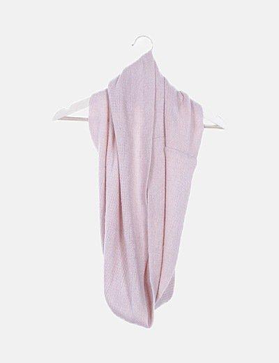 Cuello tricot rosa