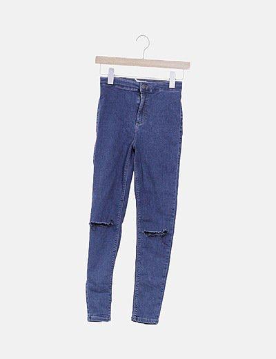 Leggings azul ripped