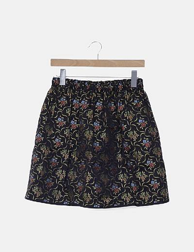 Falda mini estampada floral