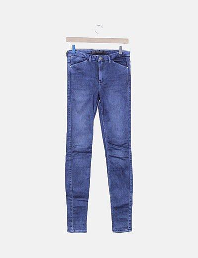 Jeans denim skinny azul
