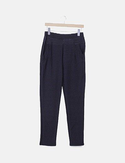 Pantalón chino elástico estampado