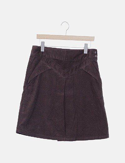 Falda pana marrón