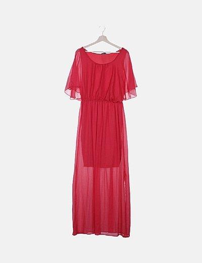 Vestido rojo gasa