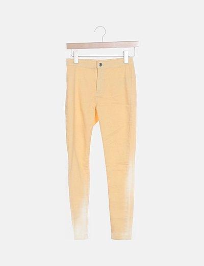 Jeans skinny amarillo