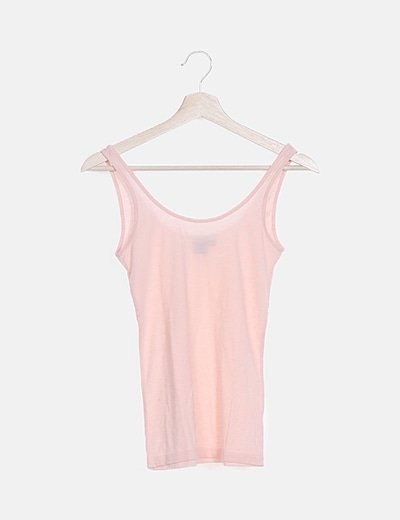 Camiseta básica rosa palo
