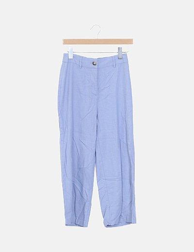 Pantalón lino lila