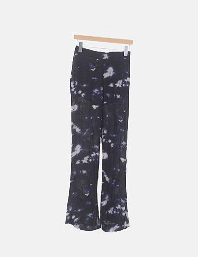 Pantalón negro fluido tie dye