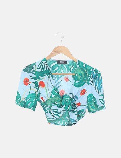 Conjunto top y short tropical