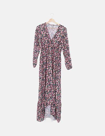 Maxi vestido floral fluido