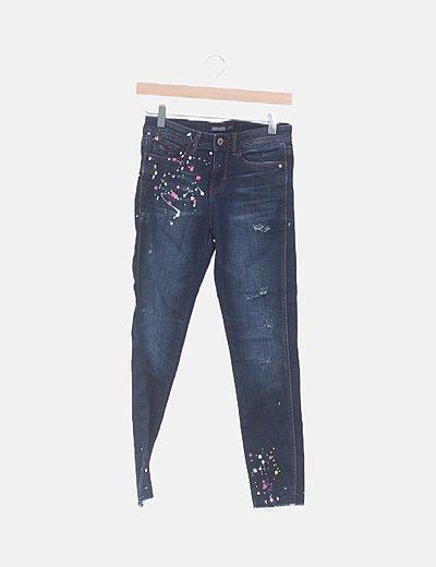 Jeans denim print pinturza