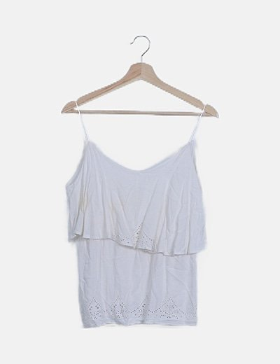 Blusa guipur blanca fluida