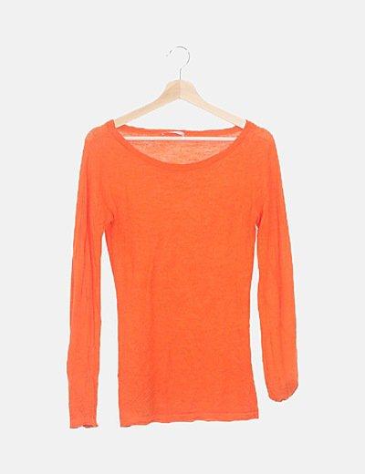 Camiseta naranja texturizada
