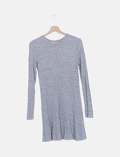 Vestido mini gris