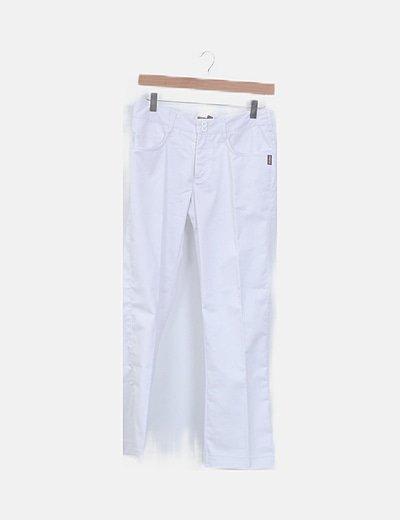 Pantalón de pinza denim blanco