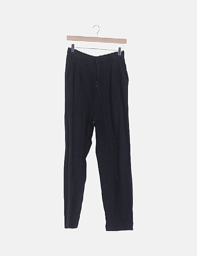 Pantalón fluido denim negro