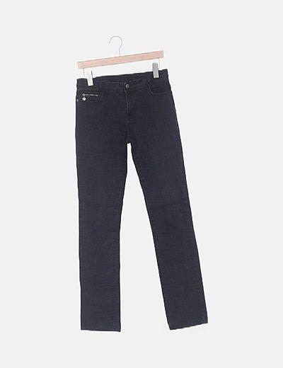 Jeans denim recto azul marino