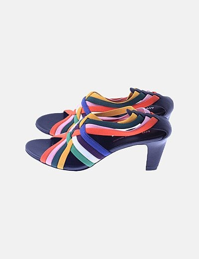 Sandalia elástica multicolor
