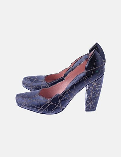 Zapato bicolor charol