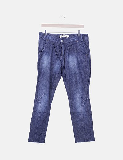 Jeans denim mom fit oscuro