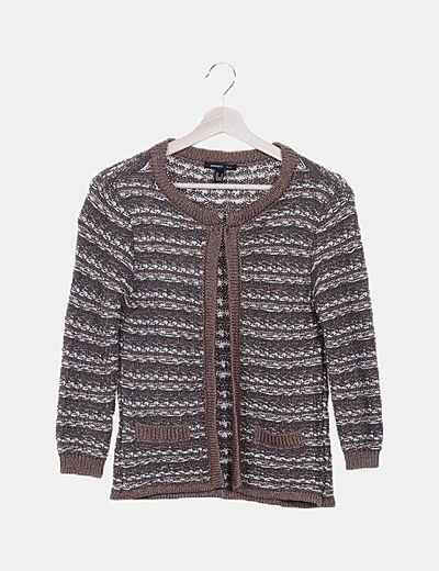 Chaqueta marrón tricot