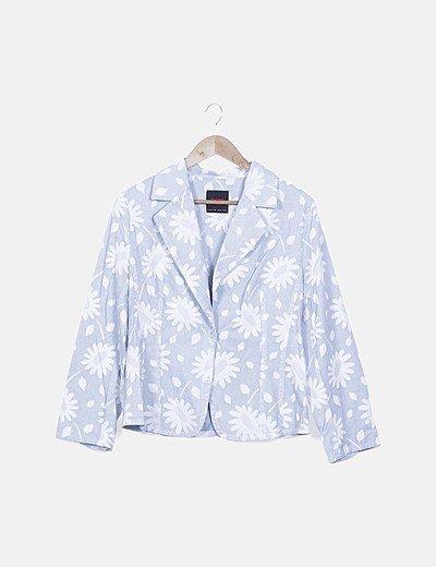 Blazer azul floral