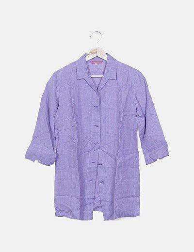 Camisa morada jaspeada