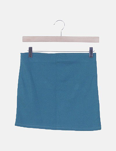 Mini falda verde elástica