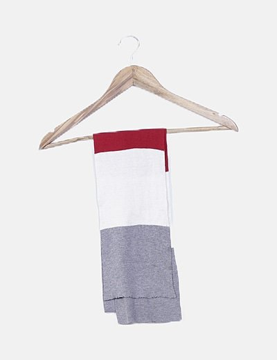 Bufanda fina tricolor