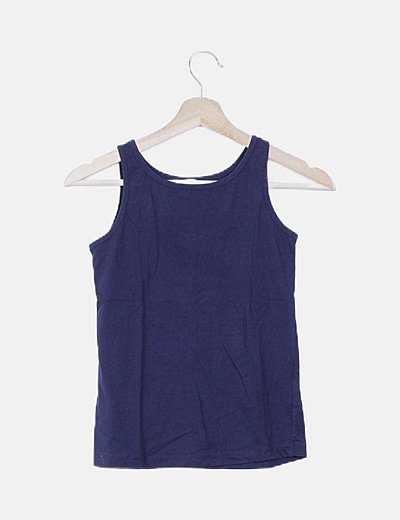 Camiseta básica nadador azul marina